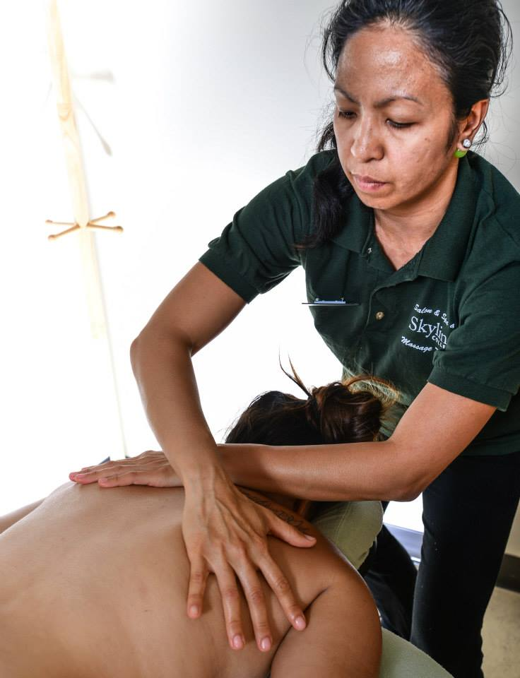 woman giving massage