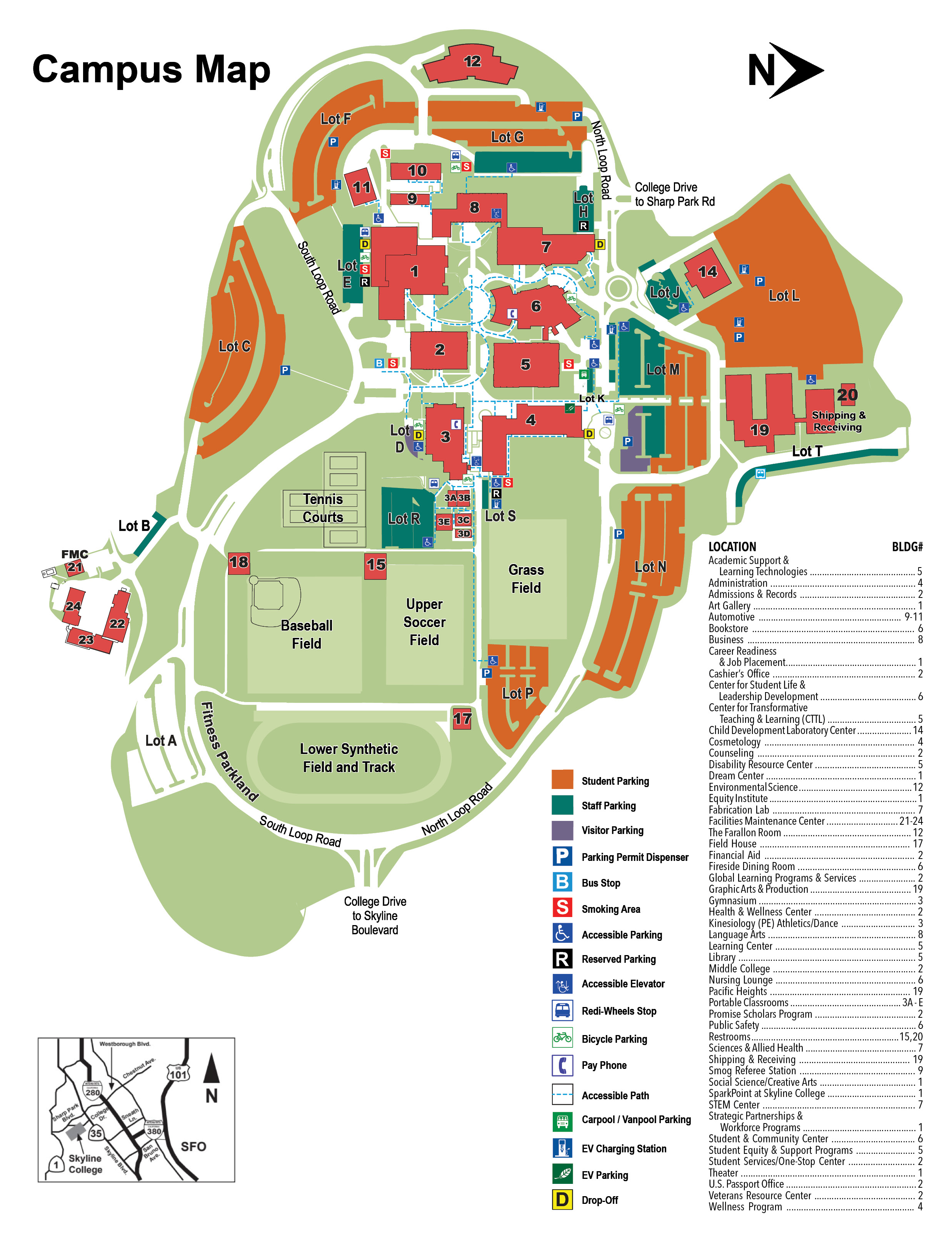 Skyline College Campus Map